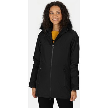 Clothing Women Macs Regatta Myla Waterproof Insulated Jacket Black Black