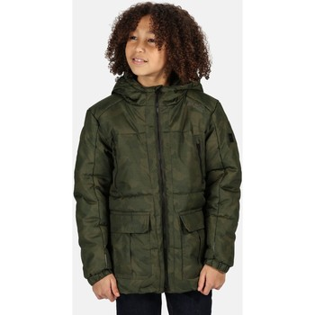 Clothing Children Jackets Regatta Perico Insulated Hooded Jacket Green Green