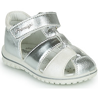 Shoes Girl Sandals Primigi GABBY Silver / White