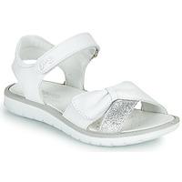 Shoes Girl Sandals Primigi LOLA White / Silver