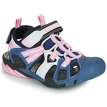 Shoes Girl Outdoor sandals Primigi CAMMI Marine / Pink