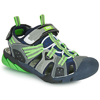 Shoes Boy Outdoor sandals Primigi ANATI Grey / Green