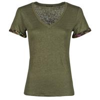 Clothing Women Short-sleeved t-shirts Ikks BS10255-56 Kaki