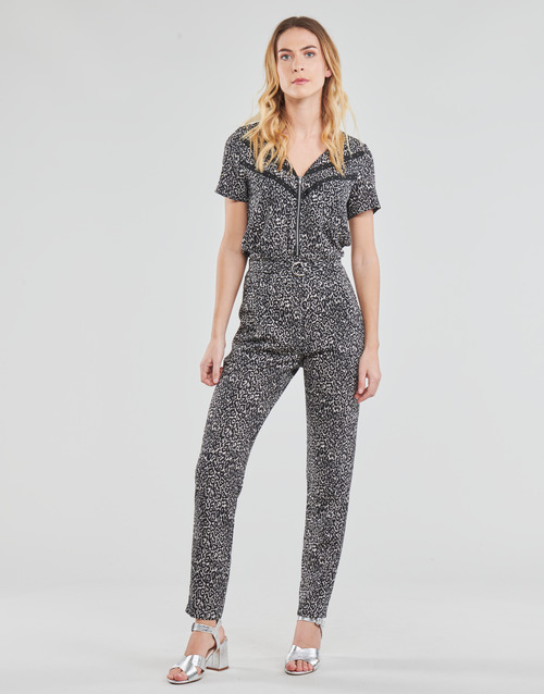 Clothing Women Jumpsuits / Dungarees Ikks BS32005-02 Black