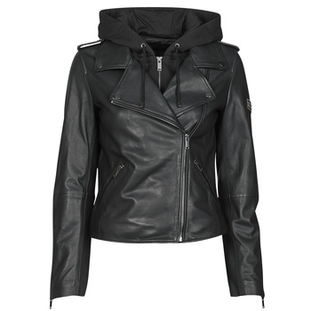 Clothing Women Leather jackets / Imitation leather Ikks BS48015-02 Black