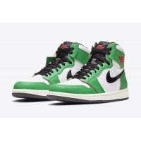 Shoes Hi top trainers Nike Air Jordan 1 Lucky Green  Lucky Green/White-Sail-Black