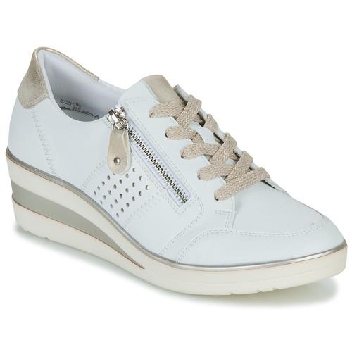Shoes Women Low top trainers Remonte Dorndorf DORA White / Gold