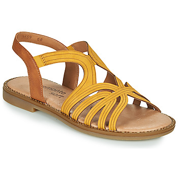 Shoes Women Sandals Remonte Dorndorf SANDA Yellow / Brown
