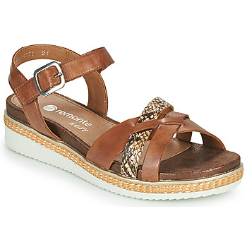 Shoes Women Sandals Remonte Dorndorf SANDY Brown / Python