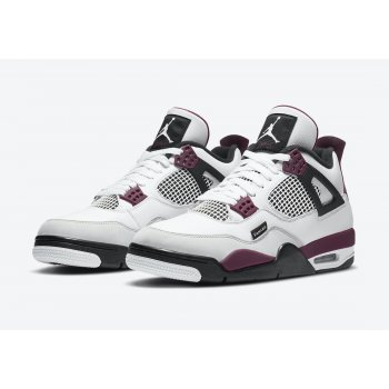 Shoes Low top trainers Nike Air Jordan 4 x PSG White/Neutral Grey-Black-Bordeaux