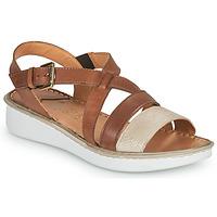Shoes Women Sandals Casual Attitude ODETTE Camel / Gold
