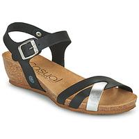 Shoes Women Sandals Casual Attitude OYA Black / Silver