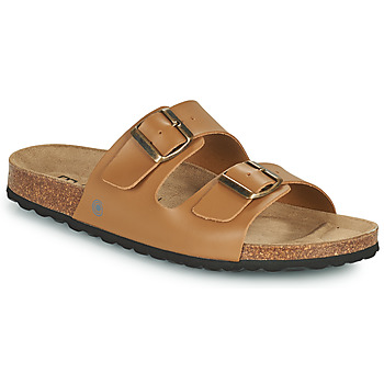 Shoes Men Mules Casual Attitude OMAO Camel