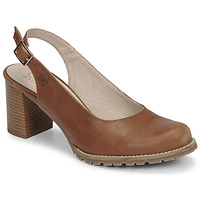 Shoes Women Heels Casual Attitude OLEA Camel