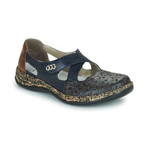 Shoes Women Flat shoes Rieker DUBLIN Blue