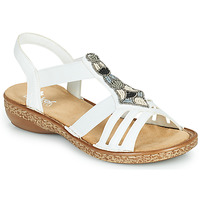 Shoes Women Sandals Rieker DOLNA White