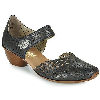 Shoes Women Heels Rieker DOUNIA Black