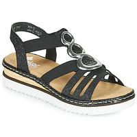 Shoes Women Sandals Rieker FANNI Blue