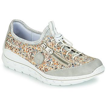 Shoes Women Low top trainers Rieker GRISSA Grey / Multicolour