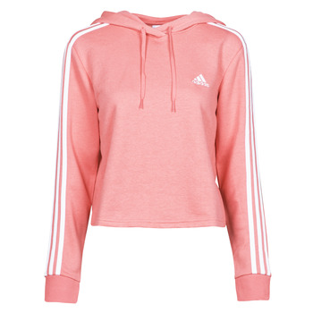 Clothing Women Sweaters adidas Performance W 3S FT CRO HD Pink