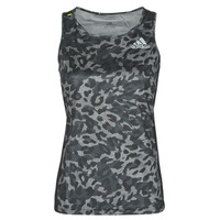 Clothing Women Tops / Sleeveless T-shirts adidas Performance P.BLUE TANK Grey