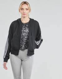 Clothing Women Track tops adidas Performance W 3S FZ HD Black