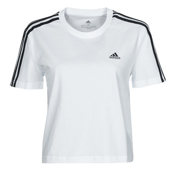 Clothing Women Short-sleeved t-shirts adidas Performance W 3S CRO T White