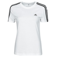 Clothing Women Short-sleeved t-shirts adidas Performance W 3S T White