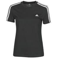 Clothing Women Short-sleeved t-shirts adidas Performance W 3S T Black