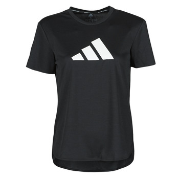Clothing Women Short-sleeved t-shirts adidas Performance BOS LOGO TEE Black