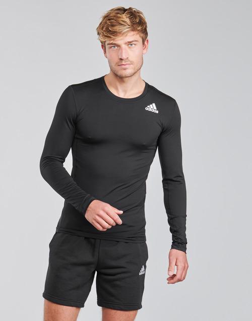 Clothing Men Long sleeved tee-shirts adidas Performance TF LS Black