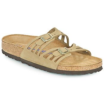 Shoes Women Mules Birkenstock GRANADA SFB Kaki