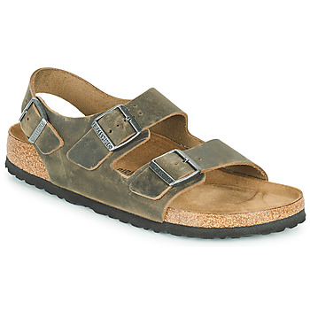 Shoes Men Sandals Birkenstock MILANO Kaki