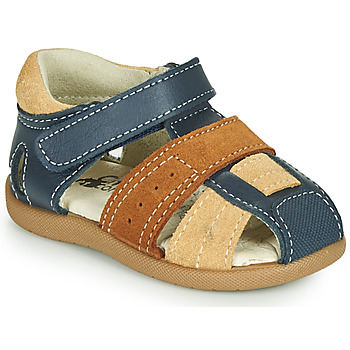 Shoes Boy Sandals Citrouille et Compagnie OLOSS Blue / Brown