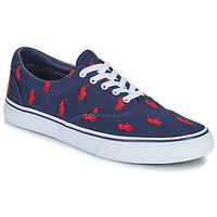Shoes Men Low top trainers Polo Ralph Lauren THORTON-SNEAKERS-VULC Marine / Red