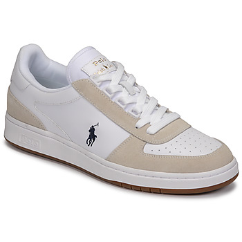 Shoes Men Low top trainers Polo Ralph Lauren POLO CRT PP-SNEAKERS-ATHLETIC SHOE White