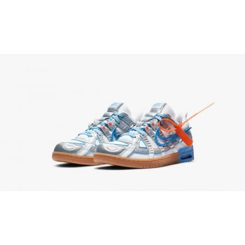Shoes Low top trainers Nike Air Rubber Dunk UNiversity blue x Off White White/University Blue-White