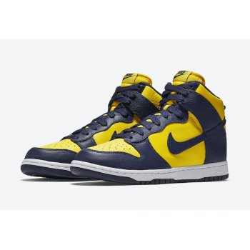 Shoes Low top trainers Nike Dunk High Michigan Varsity Maize/Midnight Navy-Midnight Navy