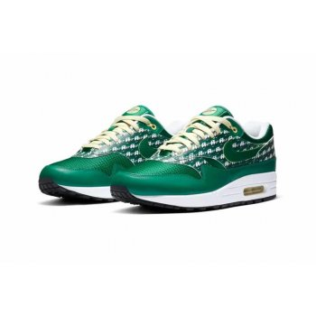 Shoes Low top trainers Nike Air Max 1 Powerwall Limonade PINE GREENPINE GREEN-TRUE WHITE