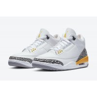 Shoes Hi top trainers Nike Air Jordan 3 Laser Orange White/Laser Orange-Cement Grey-Black