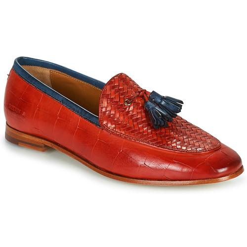 Shoes Women Loafers Melvin & Hamilton SCARLETT 44 Red