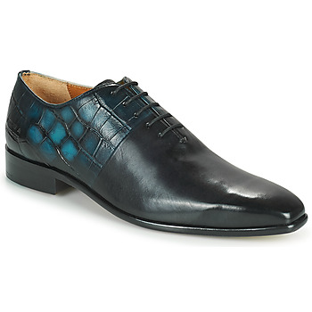 Shoes Men Brogues Melvin & Hamilton LANCE 61 Black / Blue