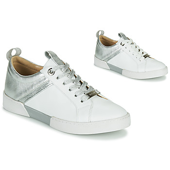 Shoes Women Low top trainers JB Martin GELATO White / Silver