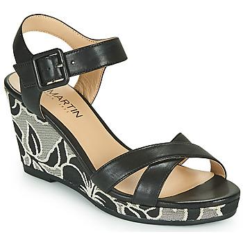 Shoes Girl Sandals JB Martin QUERIDA Black / Grey