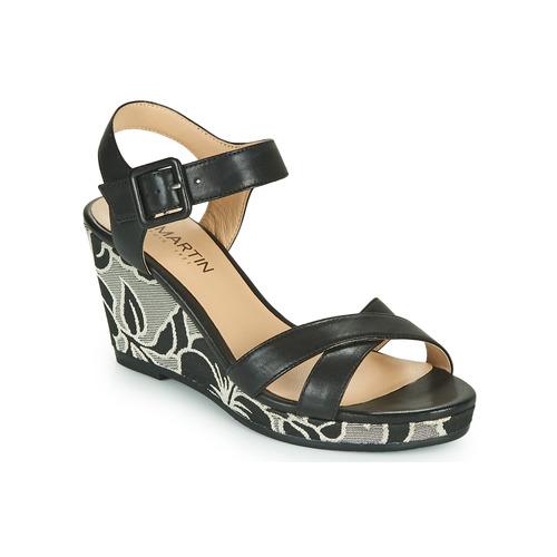 Shoes Women Sandals JB Martin QUERIDA Black / Grey