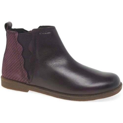 Shoes Girl Boots Geox Junior Shawntell Jodhpur Girls Boots purple