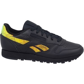Shoes Women Low top trainers Reebok Sport Classic Leather Black,Yellow