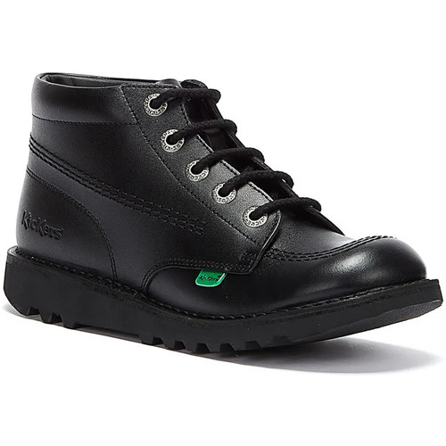 Shoes Men Ankle boots Kickers Kick Hi Youth Black Leather Ankle School Boots Black