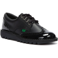 Shoes Men Derby Shoes Kickers Kick Lo Core Black Brogue Womens Leather Boots Black