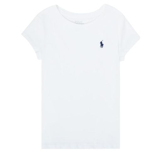 Clothing Girl Short-sleeved t-shirts Polo Ralph Lauren ZALLIE White